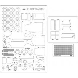Kubelwagen - szkielet, detale