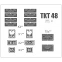Locomotive TKt48 - plates