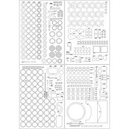 2P16 Łuna - szkielet, detale