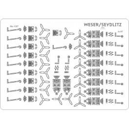 WESER - samoloty zestaw detali