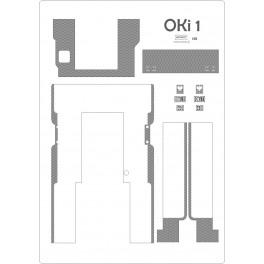 Parowóz OKi 1 - grawerowane pomosty + tabliczki