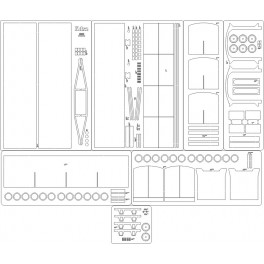Wagon Kdxz - szkielet, detale