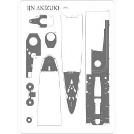 IJN Akizuki - pokład ryflowany 1:200