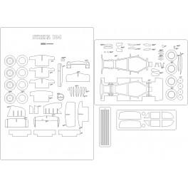 Syrena 104 - szkielet, detale, bieżniki