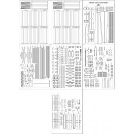 Wagon cysterna 406 Ra - szkielet, detale