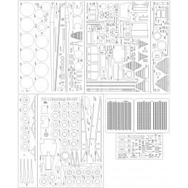Mercedes 1628S + naczepa cysterna - szkielet, detale, oszklenie