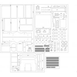 Lokomotywa spalinowa SM 03 PKP Cargo - szkielet, detale, pomosty, tabliczki