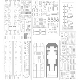 Laser cut components for locomotives Ty 51