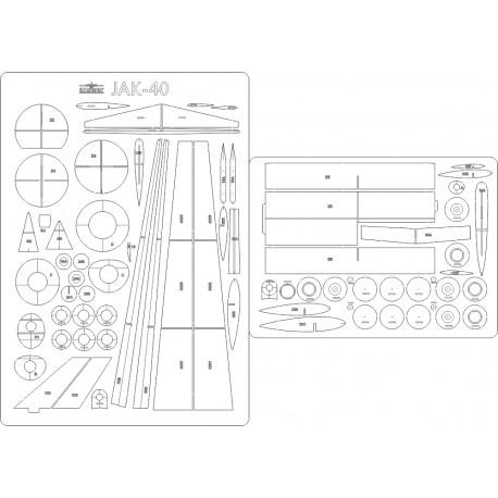 JAK-40 PLL LOT - laser cut frames and details