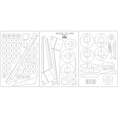 Boeing 737-400 PLL LOT - laser cut frames and details