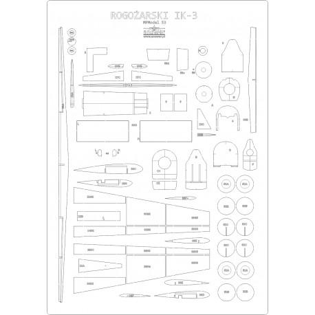 Rogozarski IK-3 - laser cut frames and details