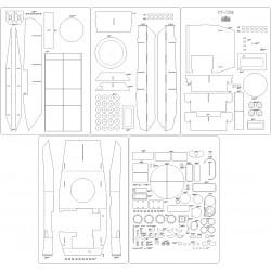 PT-76B - laser cut frames and details