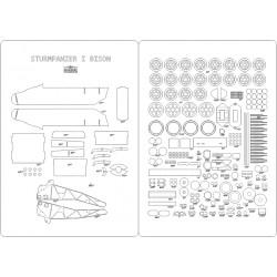 Sturmpanzer I Bison - szkielet, detale