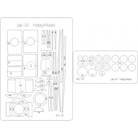Jak-141 - laser cut frames HM