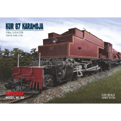 Locomotive KUR 87 KARAMOJA - model + laser cut parts