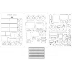 Żubr A80 cysterna - laser cut frames and details