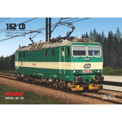 Diesel locomotive 162 CD - model + composants découpées au laser.
