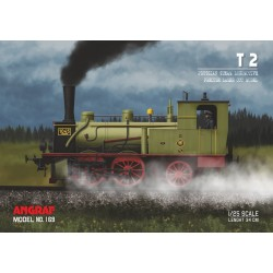 Steam locomotive T2 - full lasercut model