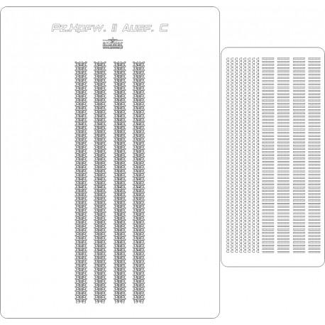 Pz.Kpfw.II Ausf. C - laser cut tracks