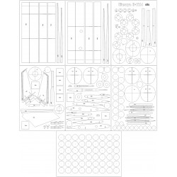 Ił-62M PLL LOT - laser cut frames and details