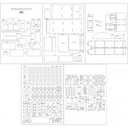 Sturmgeschutz IV - laser cut frames and details