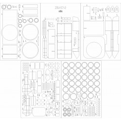 ZSU-57-2 - laser cut frames and details
