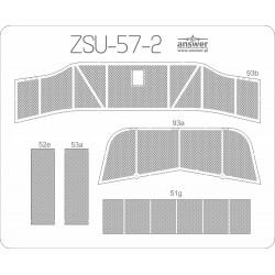 ZSU-57-2 - laser cut net