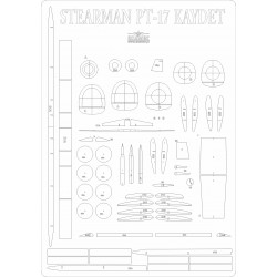Stearman PT-17 Kaydet - laser cut frames and details