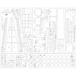 C-47B Skytrain - laser cut frames and details