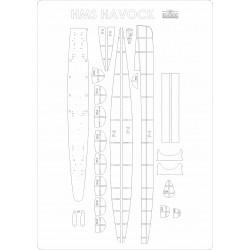 HMS Havock - laser cut frames