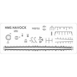 HMS Havock - détails découpés au laser