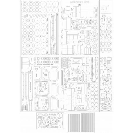 Mercedes Actros 1855 - laser cut frames and details