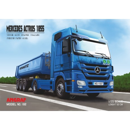 Mercedes Actros 1855 with trailer