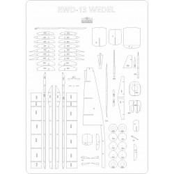 RWD 13 WEDEL - szkielet, detale