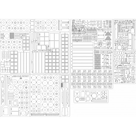 MIM-104B PATRIOT - laser cut frames and details