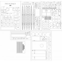 Dźwig STAR 28 4t - laser cut frames and details
