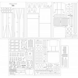 Wagon BC3 - skeleton, details
