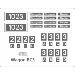 Wagon BC3 - tabliczki