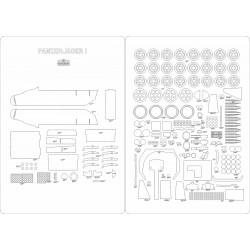 Panzerjager I - laser cut frames and details