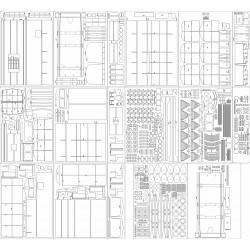 Locomotive SU46 - skeleton, details