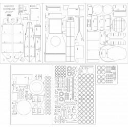 M4A3E8 Sherman - szkielet, detale