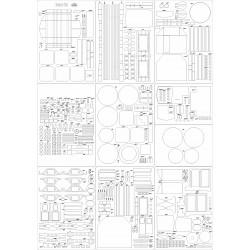 Żuraw ŻK1 - szkielet, detale, tabliczki