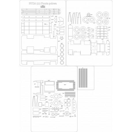 NYSA 522 Poczta polowa - laser cut frames and details