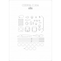 Cierva C.30a - laser cut frames and details
