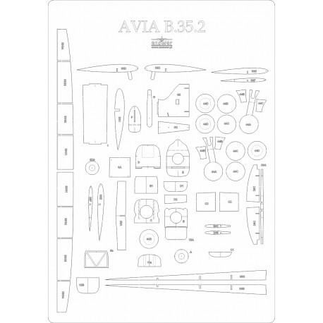 Avia B.35.2 - laser cut frames and details