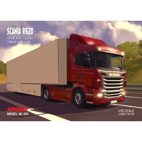 Scania R620 with trailer