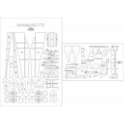 Mustang Mk.I VVS - laser cut frames and details