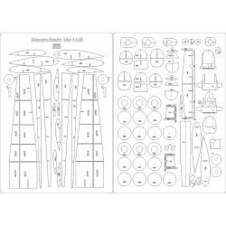 Messerschmitt Bf-110E - laser cut frames and details