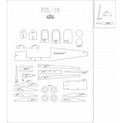 PZL-19  - laser cut frames