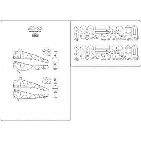 sIG-33 - laser cut frames and details